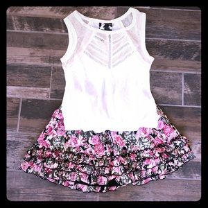 Dresses & Skirts - Candies floral skirt Young Fabulous Broke tank M